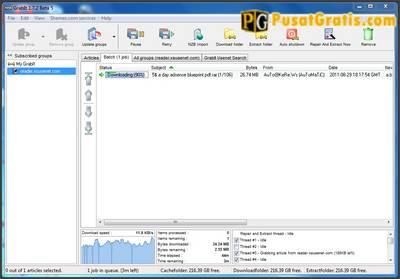 Proses download dari file yang anda inginkan telah dimulai