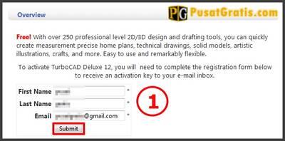 Isi form yang diperlukan dan klik submit