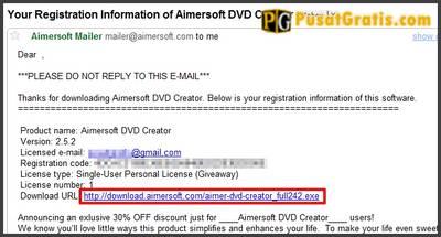 Download, install dan aktifkan Aimersoft DVD Creator dengan lisensi yang sudah anda dapatkan