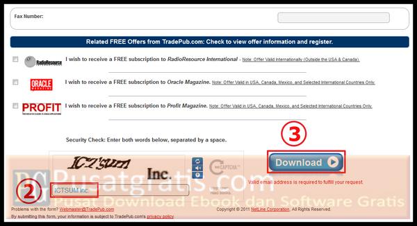 Masukkan kode captcha dan klik tombol download