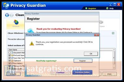 Lisensi PC Tools Privacy Guardian