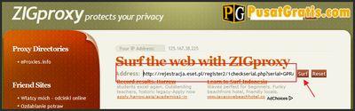 Masukan URL ke Proxy