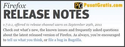 Baru Beberapa Hari Dirilis, Firefox 7 Telah Diupdate ke Versi 7.0.1