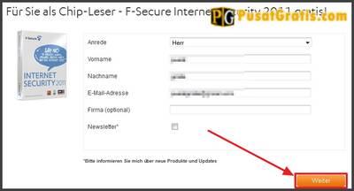 """Isikan data-data yang diperlukan dan klik tombol """"weiter"""""""