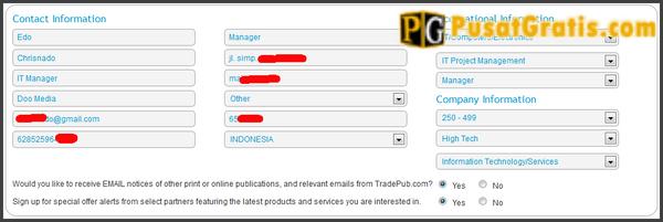 Isi semua form yang diperlukan dengan data valid anda secara lengkap