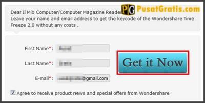"""Masukkan nama dan email anda, kemudian klik """"Get it Now"""""""