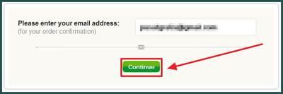 "Masukkan alamat email valid anda dan klik ""Continue"""