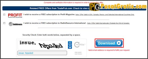 """Masukkan kode captcha dan klik tombol """"Download"""""""