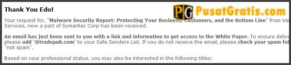 "Jika halaman ""thank you"" sudah muncul, tandanya pendaftaran anda sudah diterima"