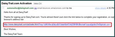 Login ke email anda dan klik link konfirmasi