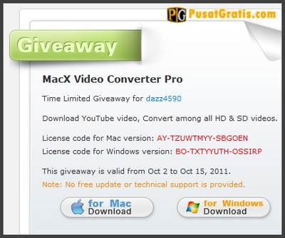 Dapatkan Lisensi MacX Video Converter Pro Hingga 15 Oktober 2011