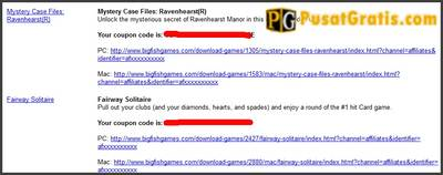 oupon codes game Mystery Case Files: Ravenhearst dan Fairway Solitaire