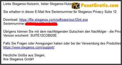 Lisensi Steganos Privacy Suite dan link download Steganos Privacy Suite