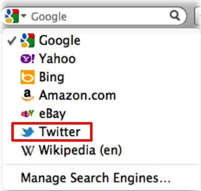 Fitur Twitter Search di Firefox 8 Final