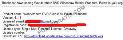 Lisensi DVD Slideshow Builder Standard