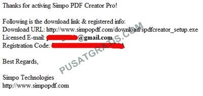 Lisensi Simpo PDF Creator Pro