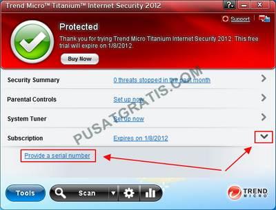 aktivasi Trend Micro Internet Security 2012