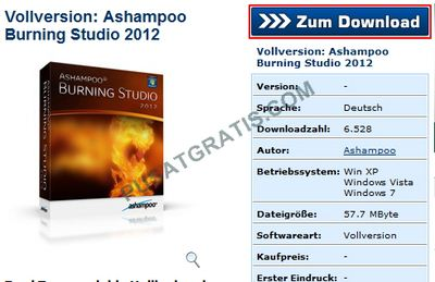 Download Ashampooo Burning Studio 2012