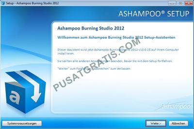 Instalasi Ashampooo Burning Studio 2012