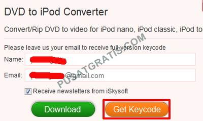 Isikan nama dan email anda