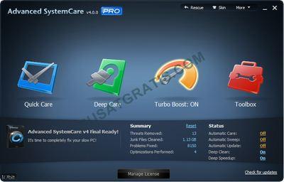 Dapatkan Lisensi IObit Advanced SystemCare PRO 4