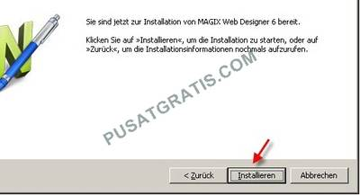 Install Xara Web Designer 6