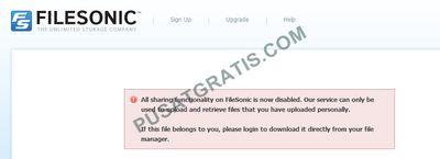 Fitur File Sharing FileSonic Dimatikan Pasca Ditutupnya Megaupload