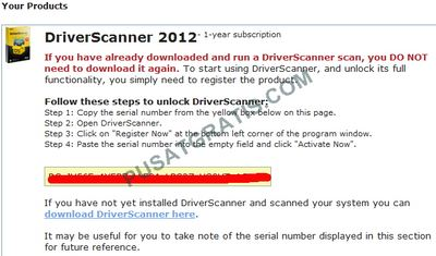lisensi Driver Scanner 2012