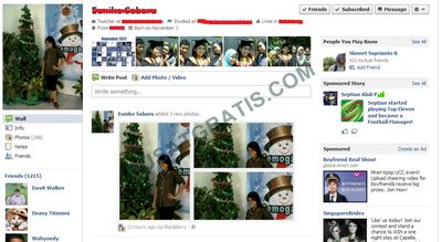 Halaman Profil tanpa Facebook Timeline