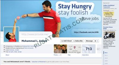 Halaman Facebook dengan Facebook Timeline