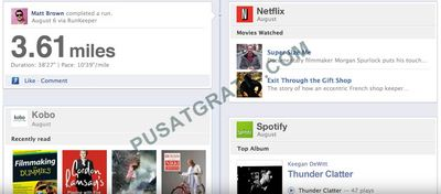 Bagian Apps pada Facebook Timeline