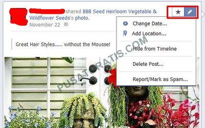 Edit Facebook Timeline