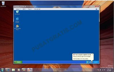 Windows XP Mode Siap Digunakan