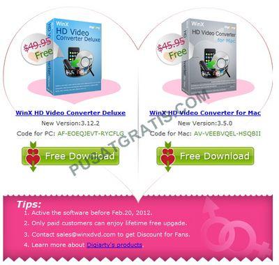Dapatkan WinX HD Video Converter Deluxe untuk Mac dan Windows Gratis