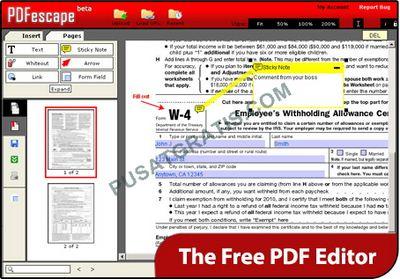 PDFescape : Membuat dan Mengedit File PDF Tanpa Menggunakan Software