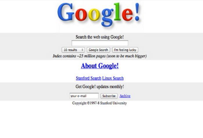 Tampilan Awal Google