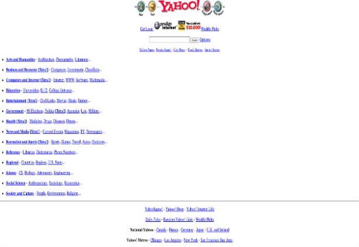 Tampilan Awal Yahoo