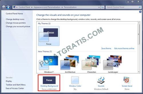 Cara mengganti tema Windows 7