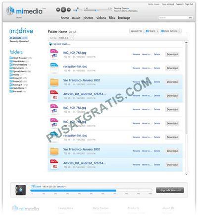Dapatkan 7GB Cloud Storage Gratis dari MiMedia