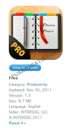 Aplikasi Schedule Planner Pro untuk iPhone digratiskan Secara Terbatas