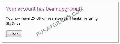 Upgrade 25GB Storage SkyDrive untuk Semua Member Microsoft SkyDrive