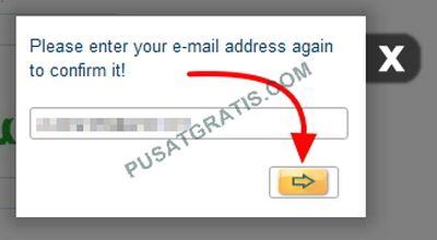 masukkan sekali lagi alamat email anda