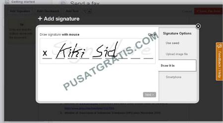 Website untuk Menandatangani, Mengedit dan mem-fax dokumen secara Online Gratis