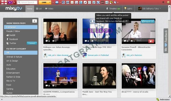 Mixy.TV: Aplikasi Online Playlist Video untuk Facebook dan Twitter Anda