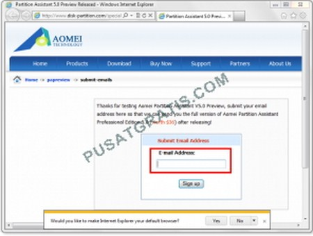 Download AOMEI Partition Assistant Pro v5.0