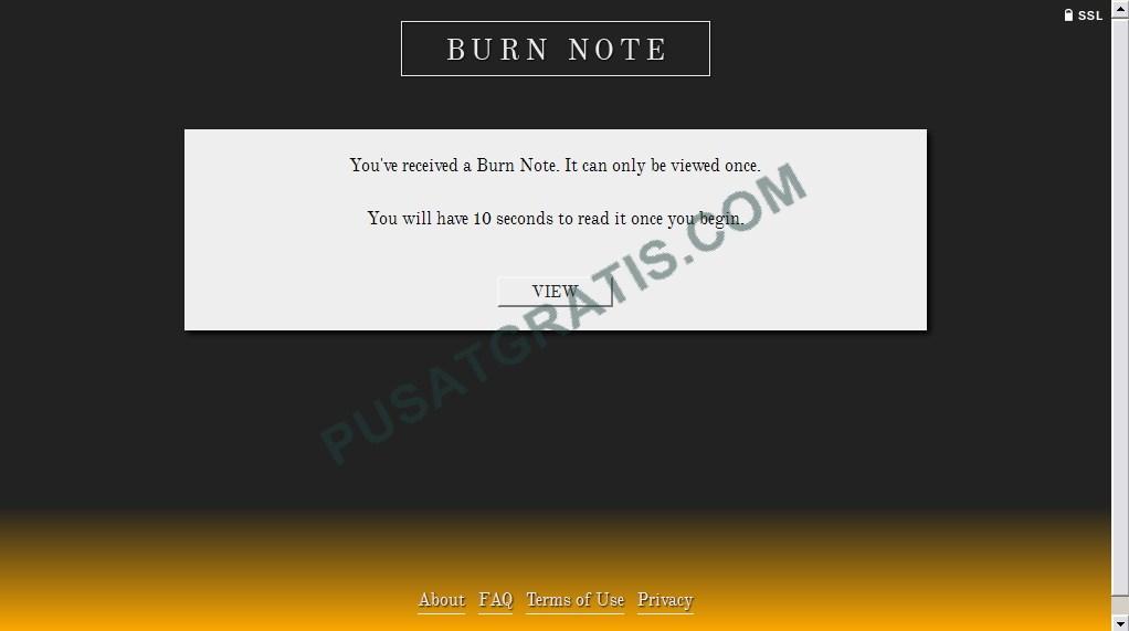BurnNote: Web Aplikasi untuk Mengirimkan Pesan Pribadi