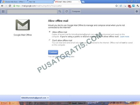 Ekstensi Google Chrome yang memungkinkan anda Memeriksa, Membaca, dan Membuat Pesan Gmail saat Offline