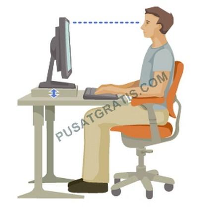 Posisi Duduk yang Benar Ketika Menggunakan Komputer