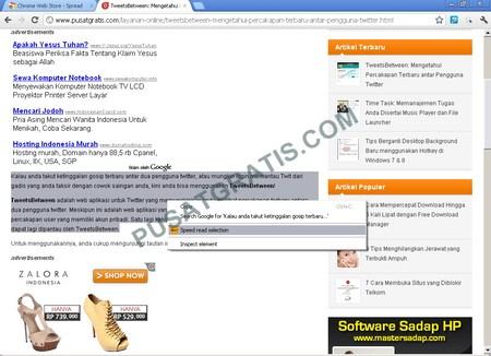 Spread: Ekstensi Google Chrome untuk Membacakan Teks dari Website Manapun