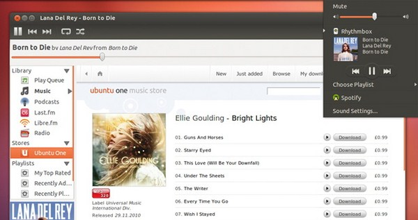 Music Player di Ubuntu 12.04